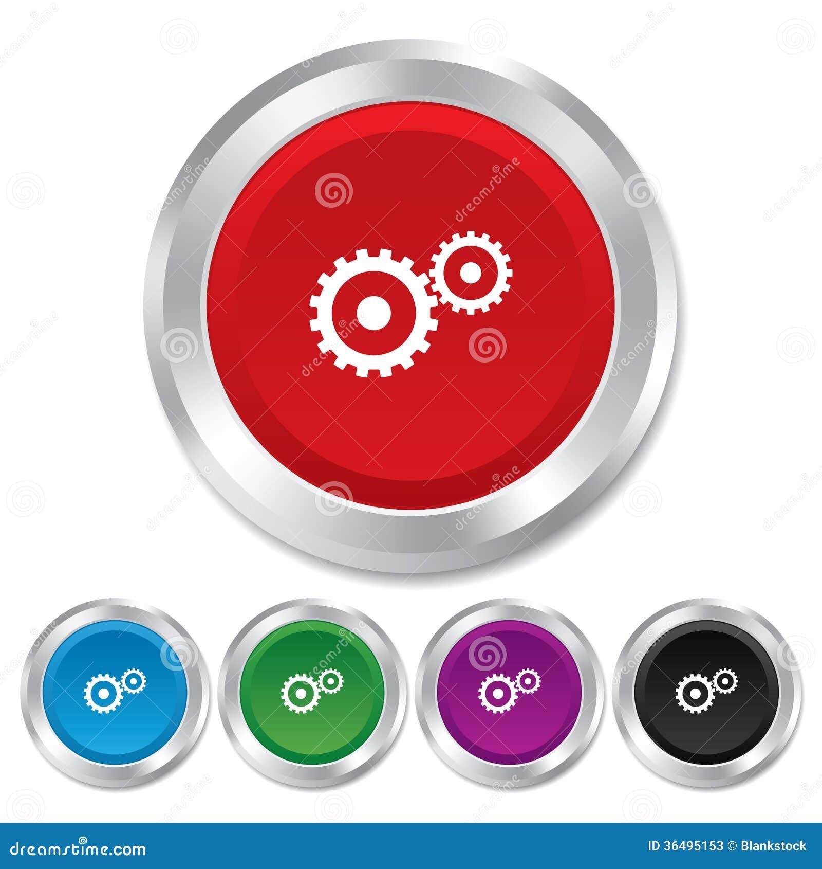 Cog Settings Sign Icon Cogwheel Gear Symbol Stock Photos