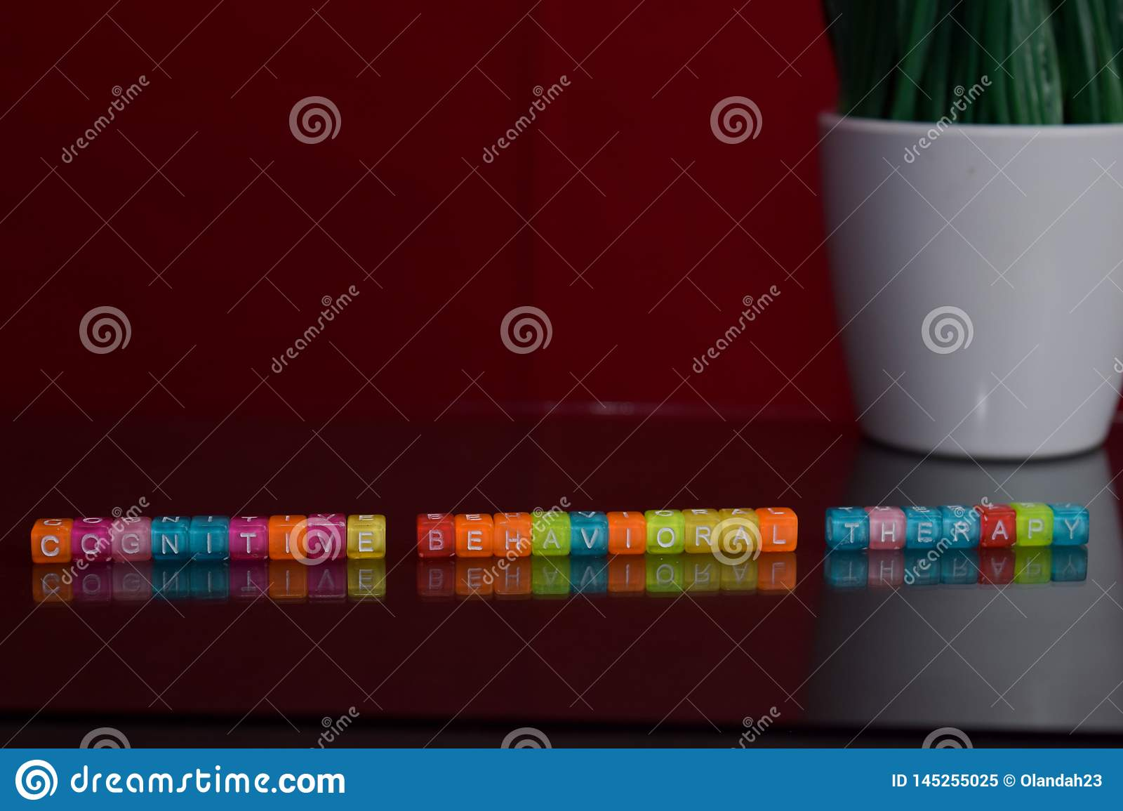 Cognitive Behavioral Therapy Text At Colorful Wooden Block