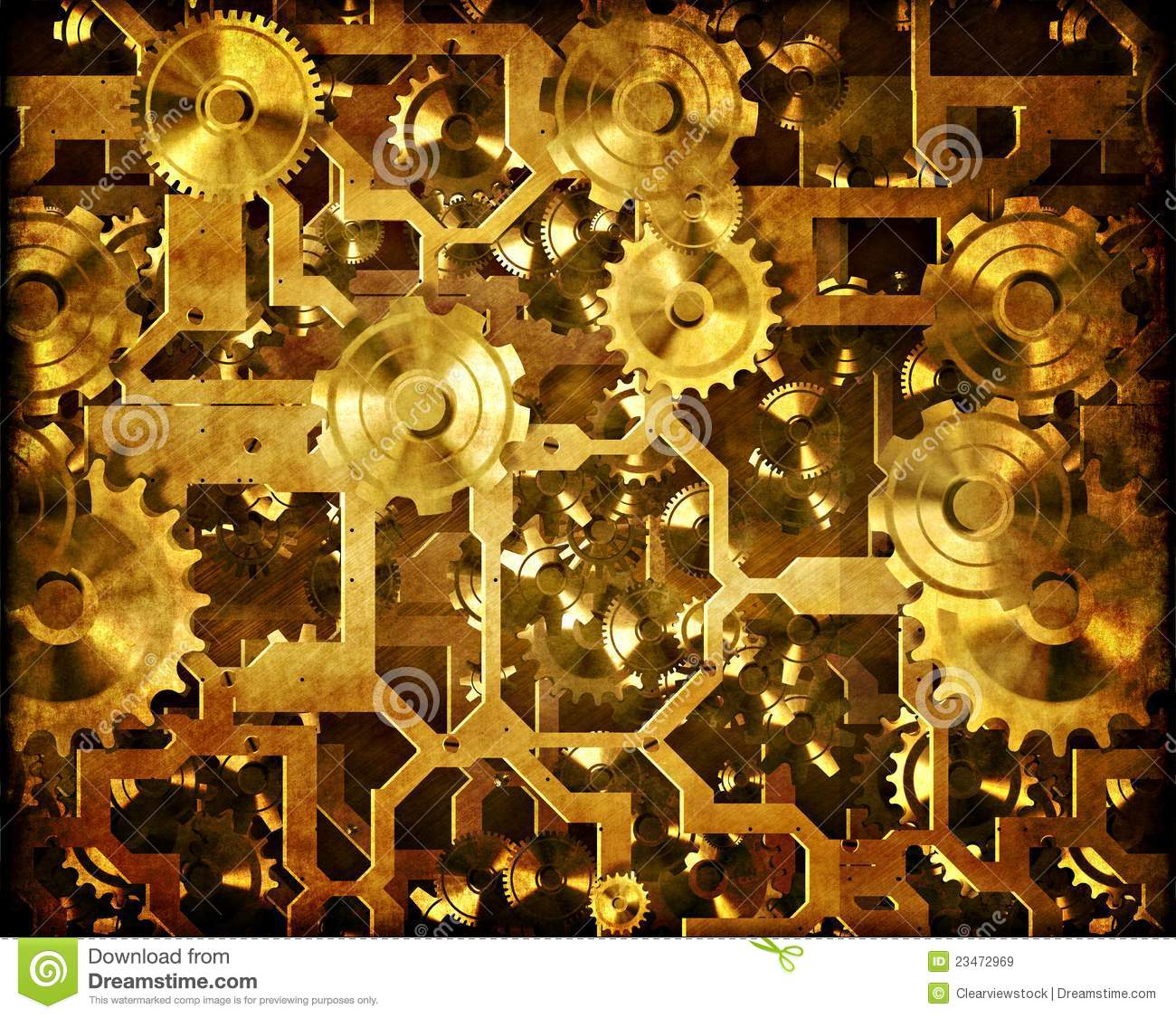 Cogs And Clockwork Steampunk Machinery Royalty Free Stock Images ...