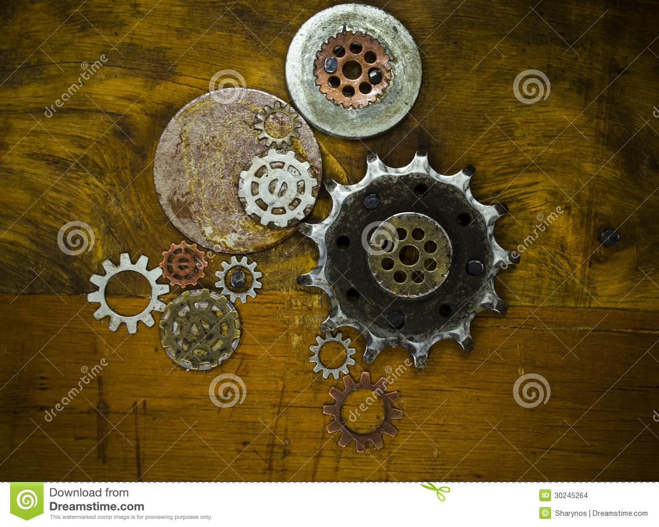 Steampunk Background Stock Images - Image: 30245264