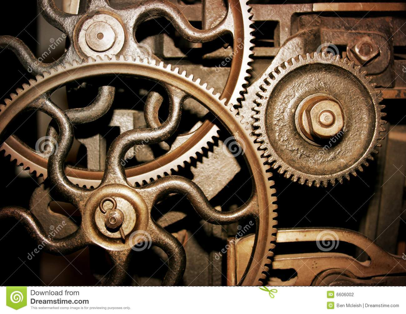 Cogs In A Machine Stock Photography Image 6606002