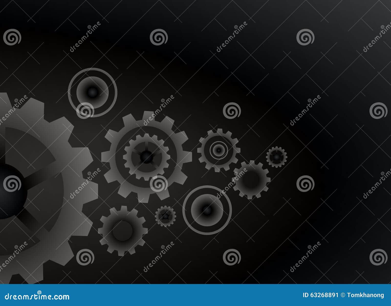 cogs wheels black color background vector design stock vector