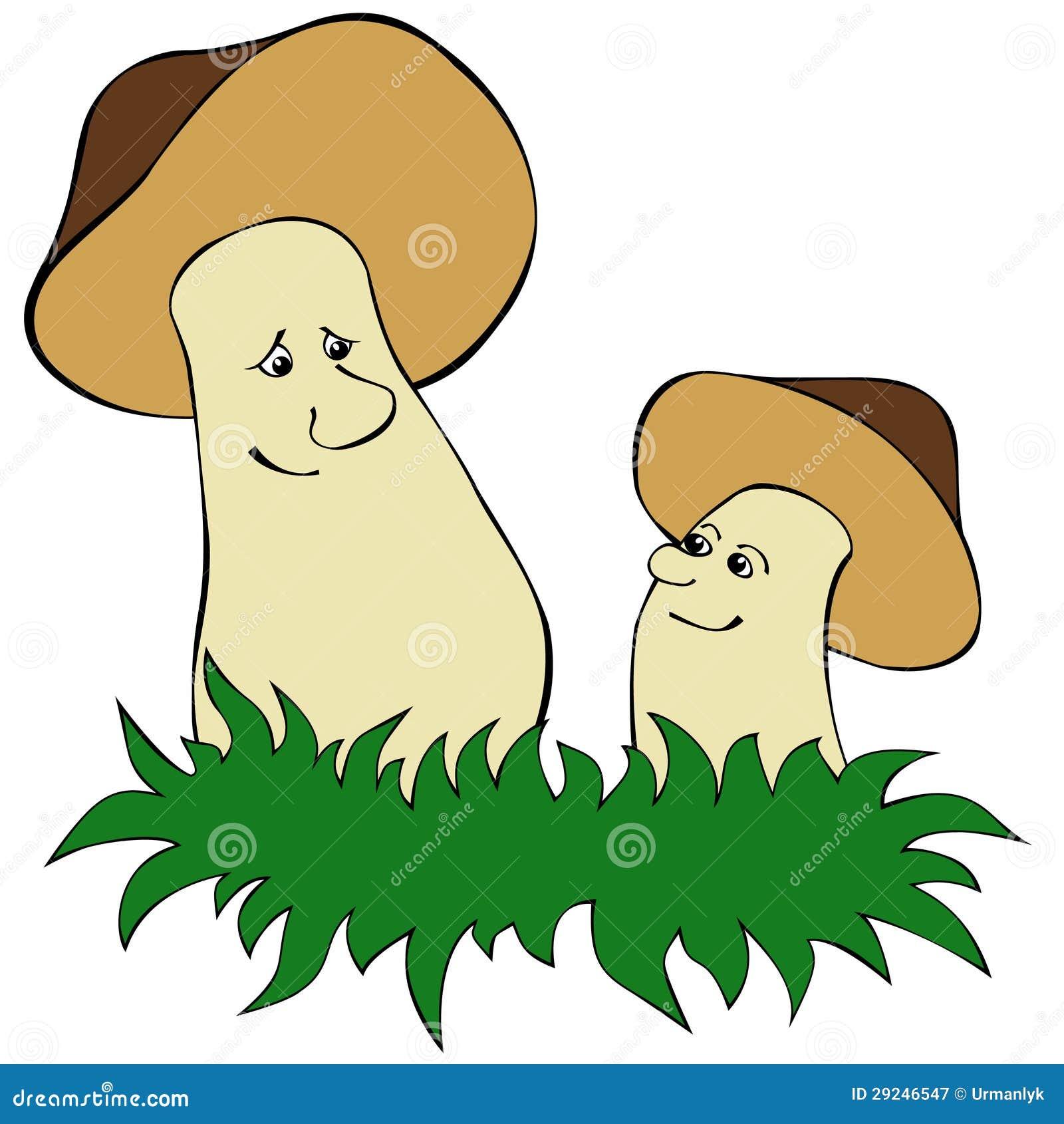 Download Cogumelos ilustração do vetor. Ilustração de grande, pequeno - 29246547