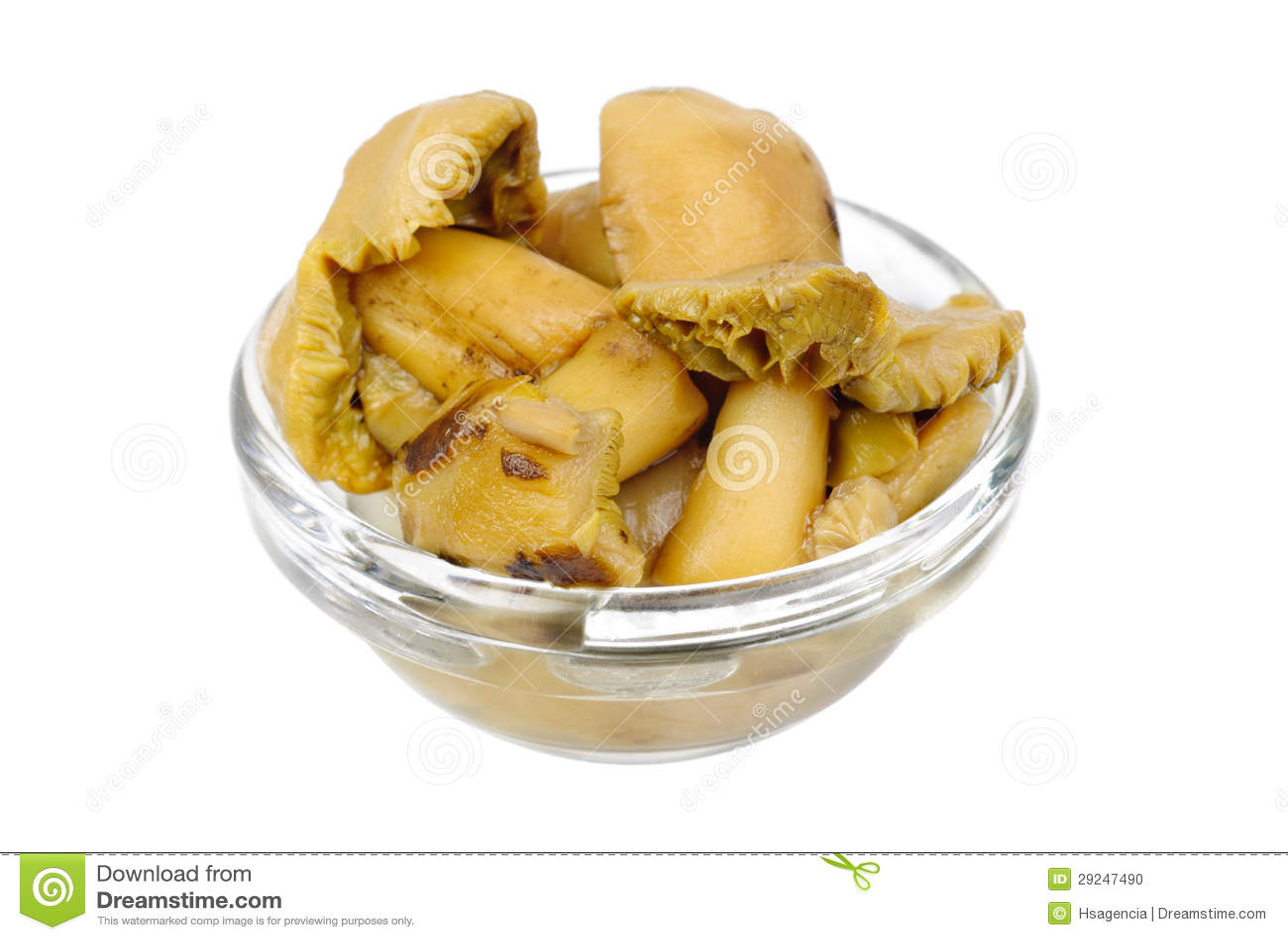 Download Cogumelos Conservados Na Bacia De Vidro Foto de Stock - Imagem de marinate, componente: 29247490