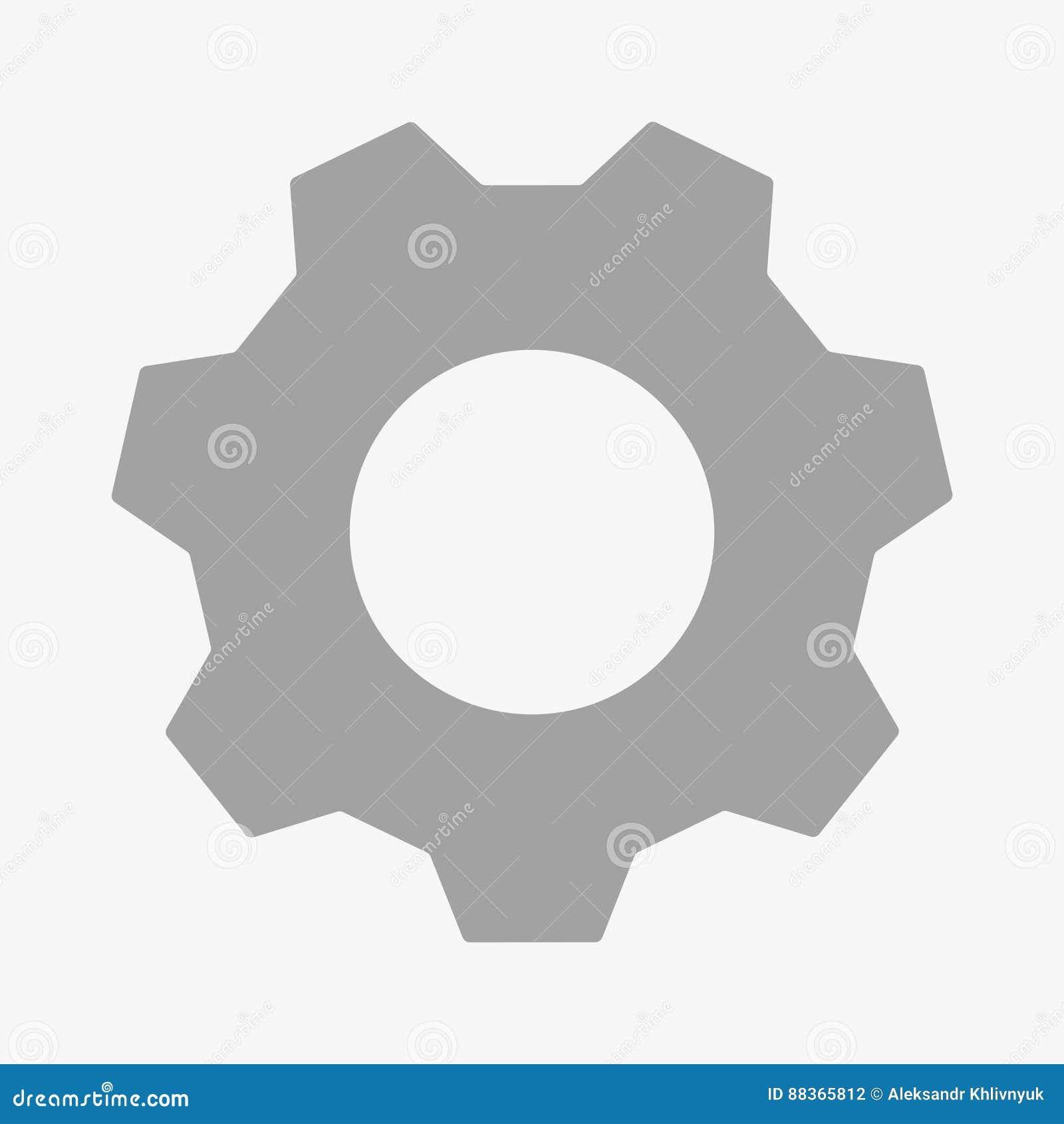Cogwheel icon stock illustration  Illustration of