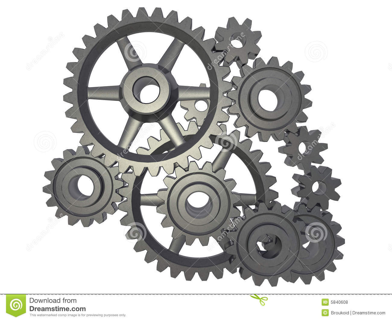 Metal Letters Cogwheel Mechanism Royalty Free Stock Photos Image 5840608