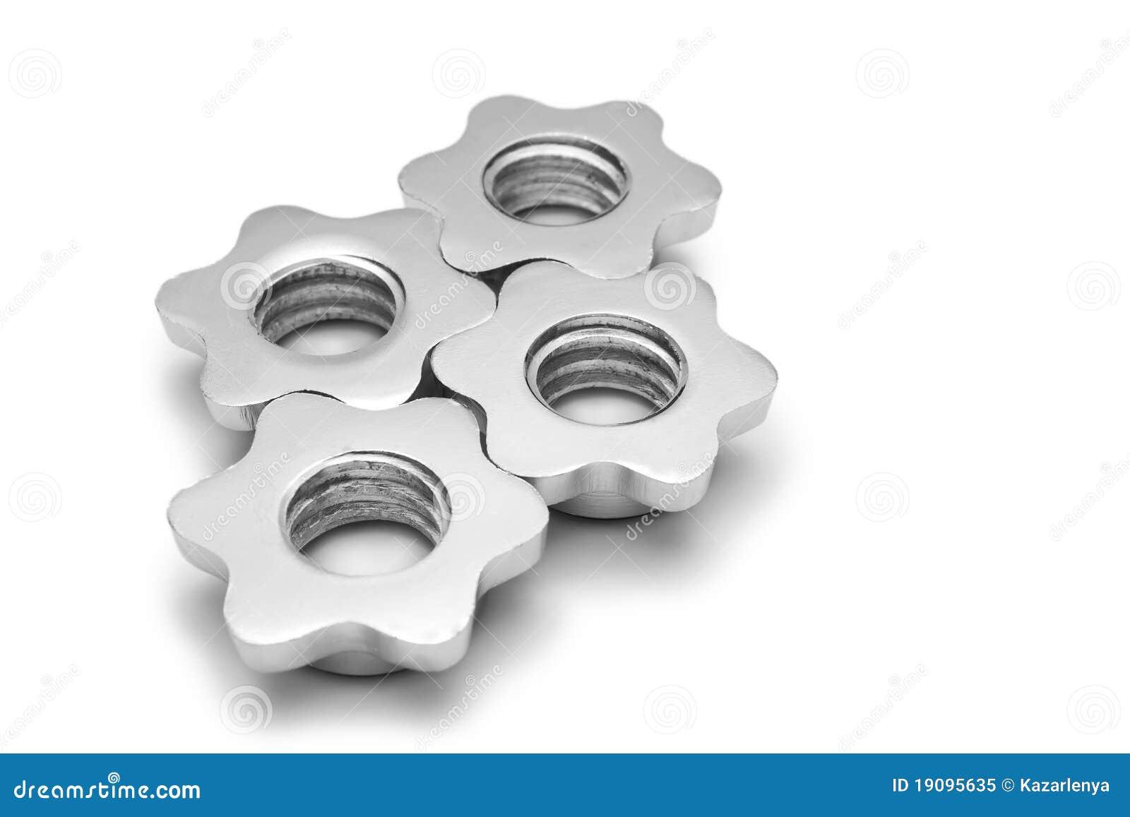 Cogwheel som isoleras som skruvar
