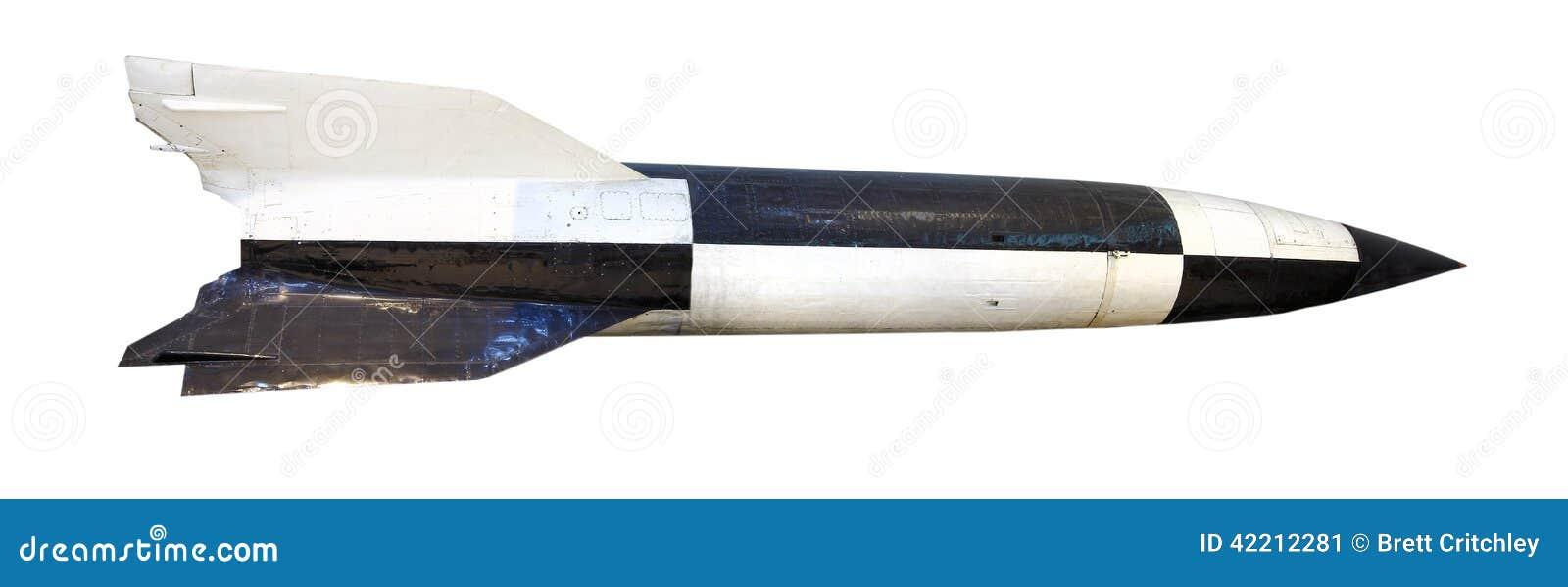 Cohete aislado de la bomba