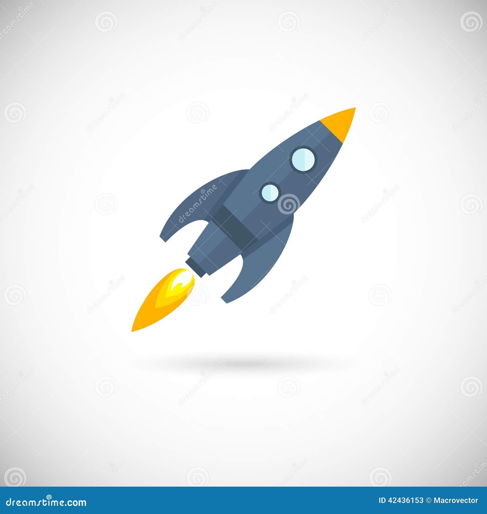 Cohete de espacio de los iconos de los aviones