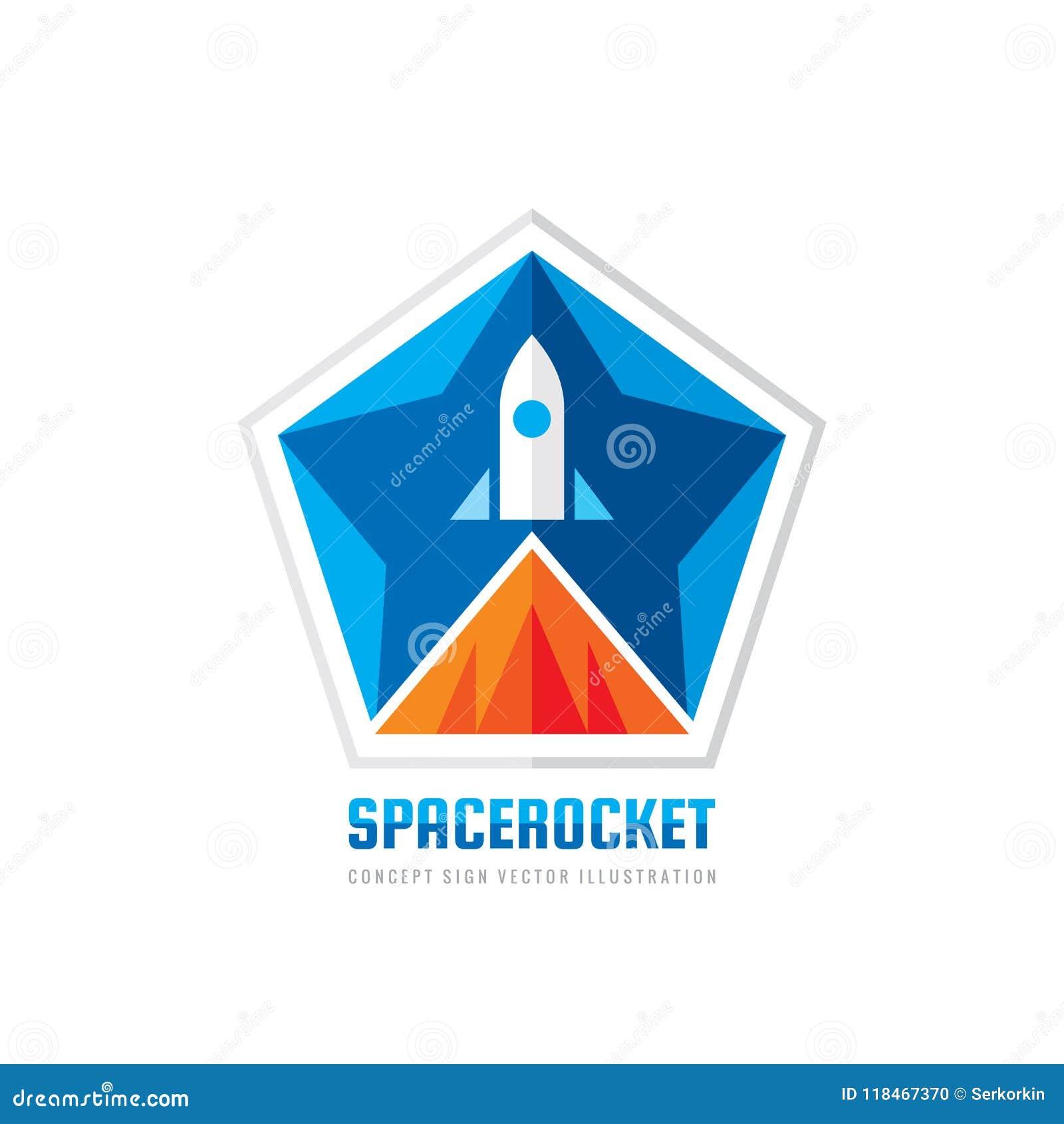 Cohete De Espacio - Ejemplo Del Vector De La Plantilla Del Logotipo ...