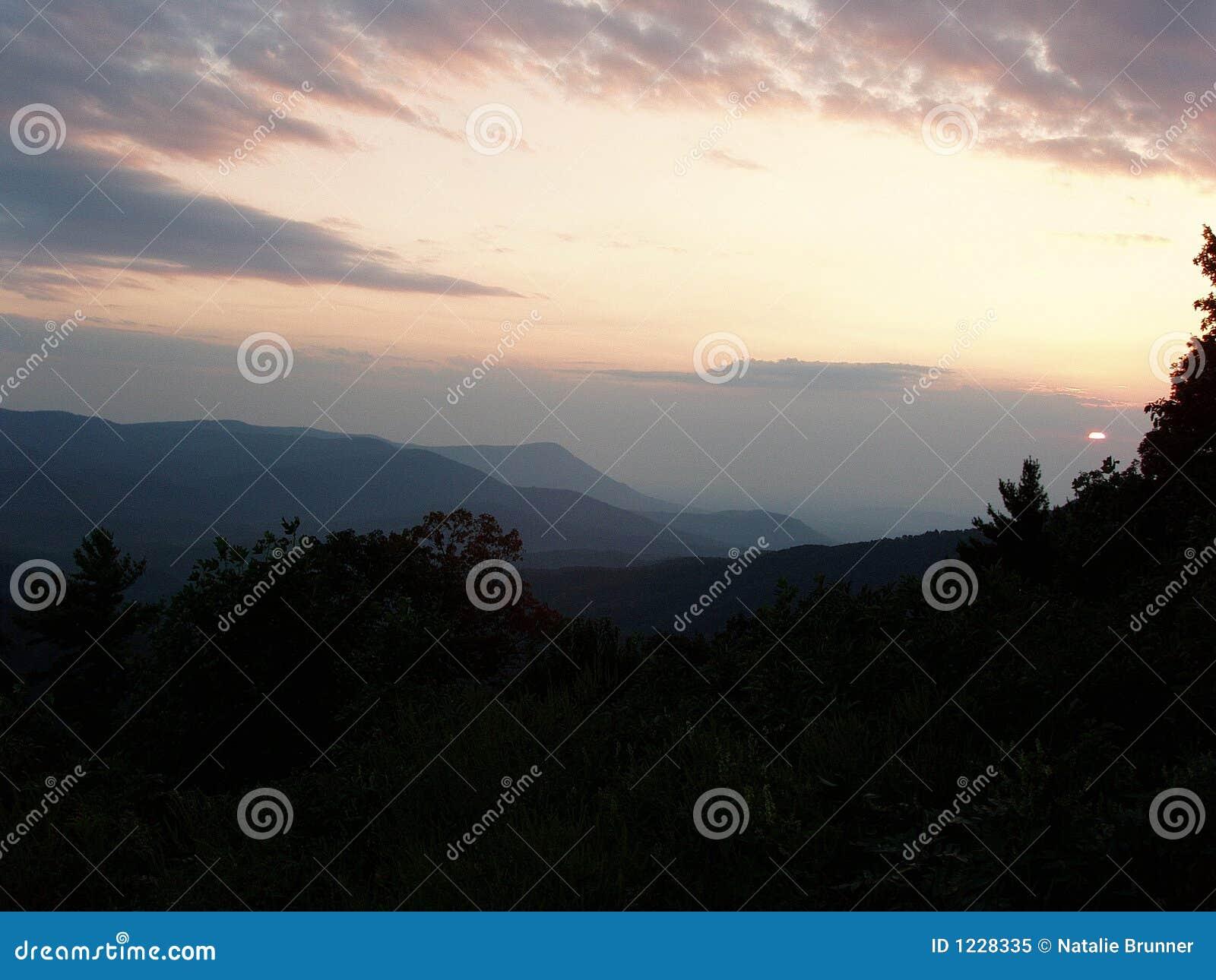 Cohutta wilderness sunset