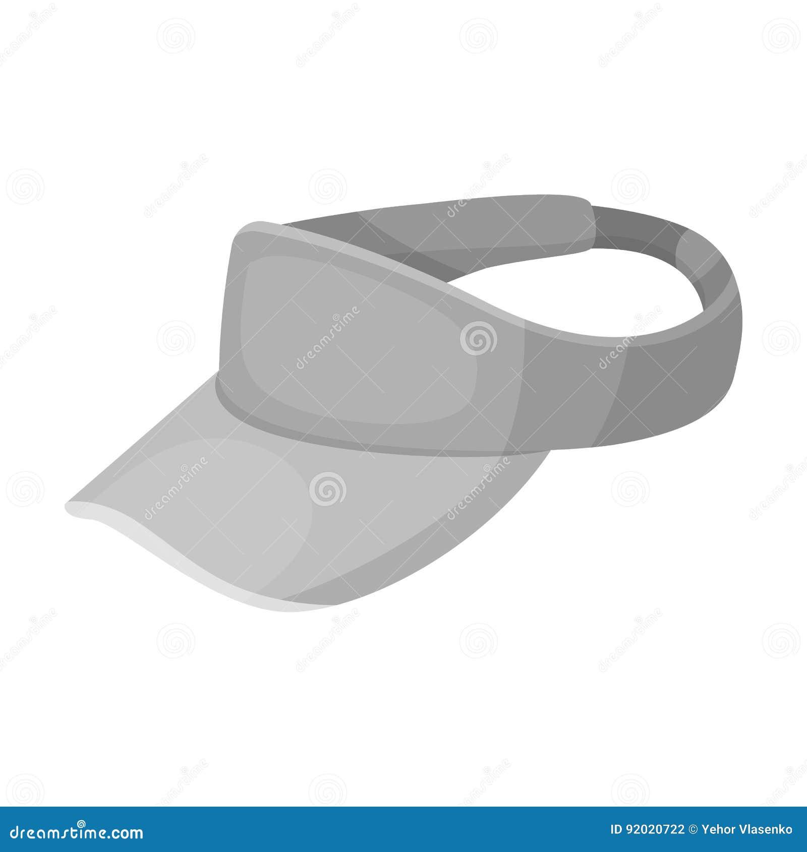Coiffe du ` s de golfeur Icône simple de club de golf en Web monochrome d illustration d actions de symbole de vecteur de style