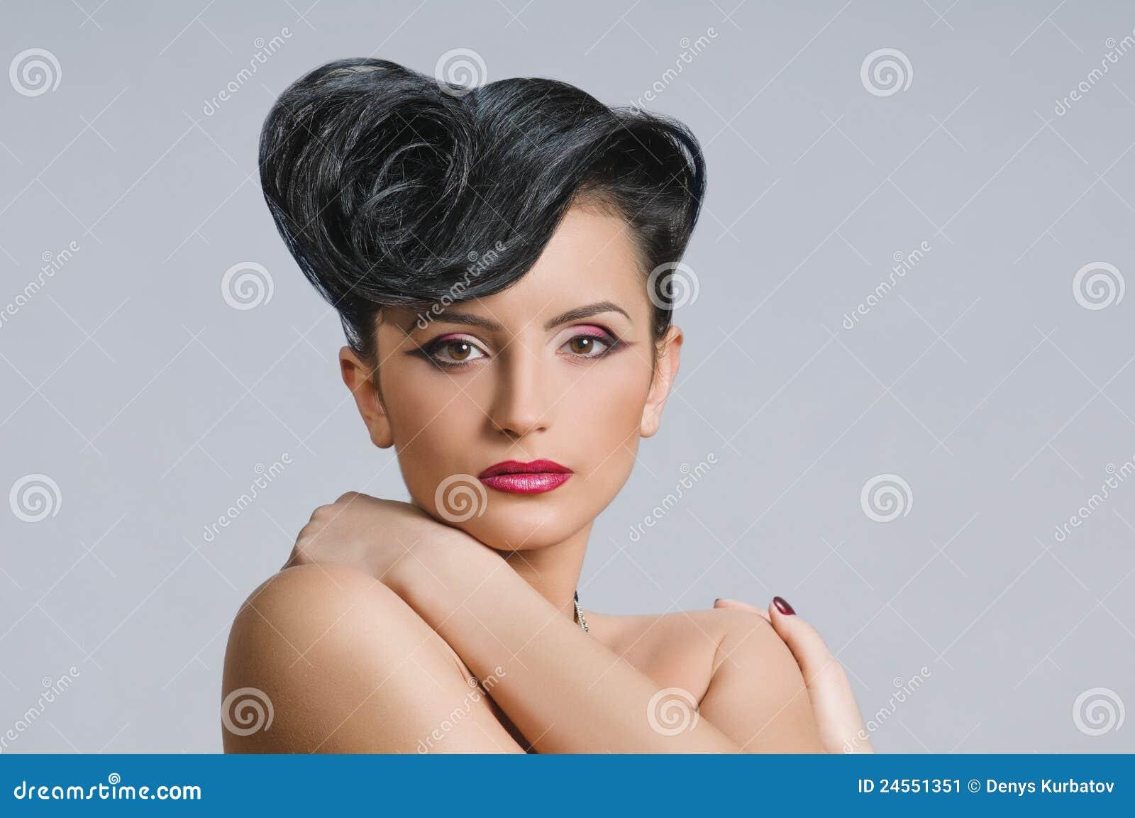 Coiffure Quiff Stock Image Image Of Fashion Head Cute 24551351