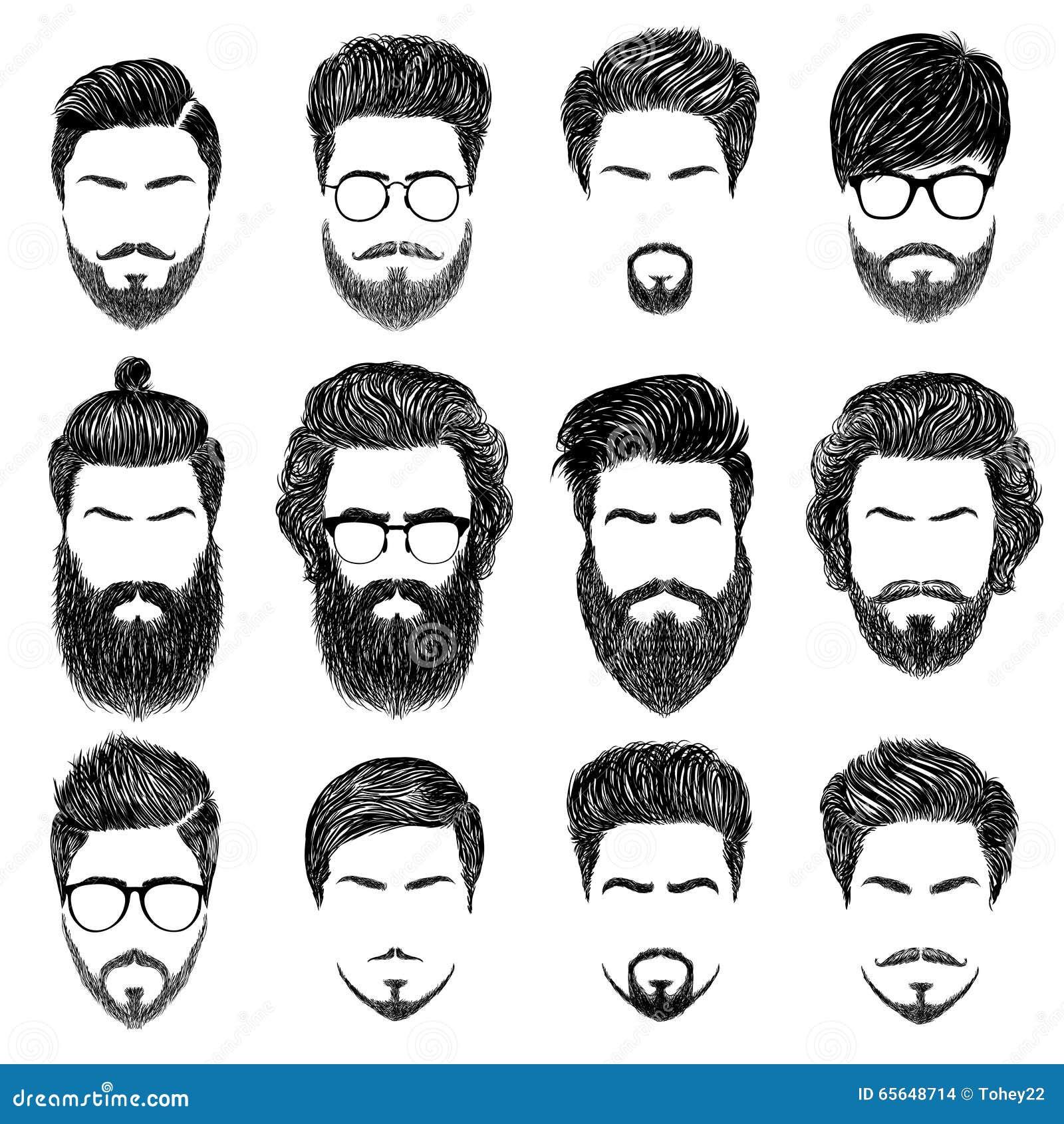 Coiffures barbues d homme