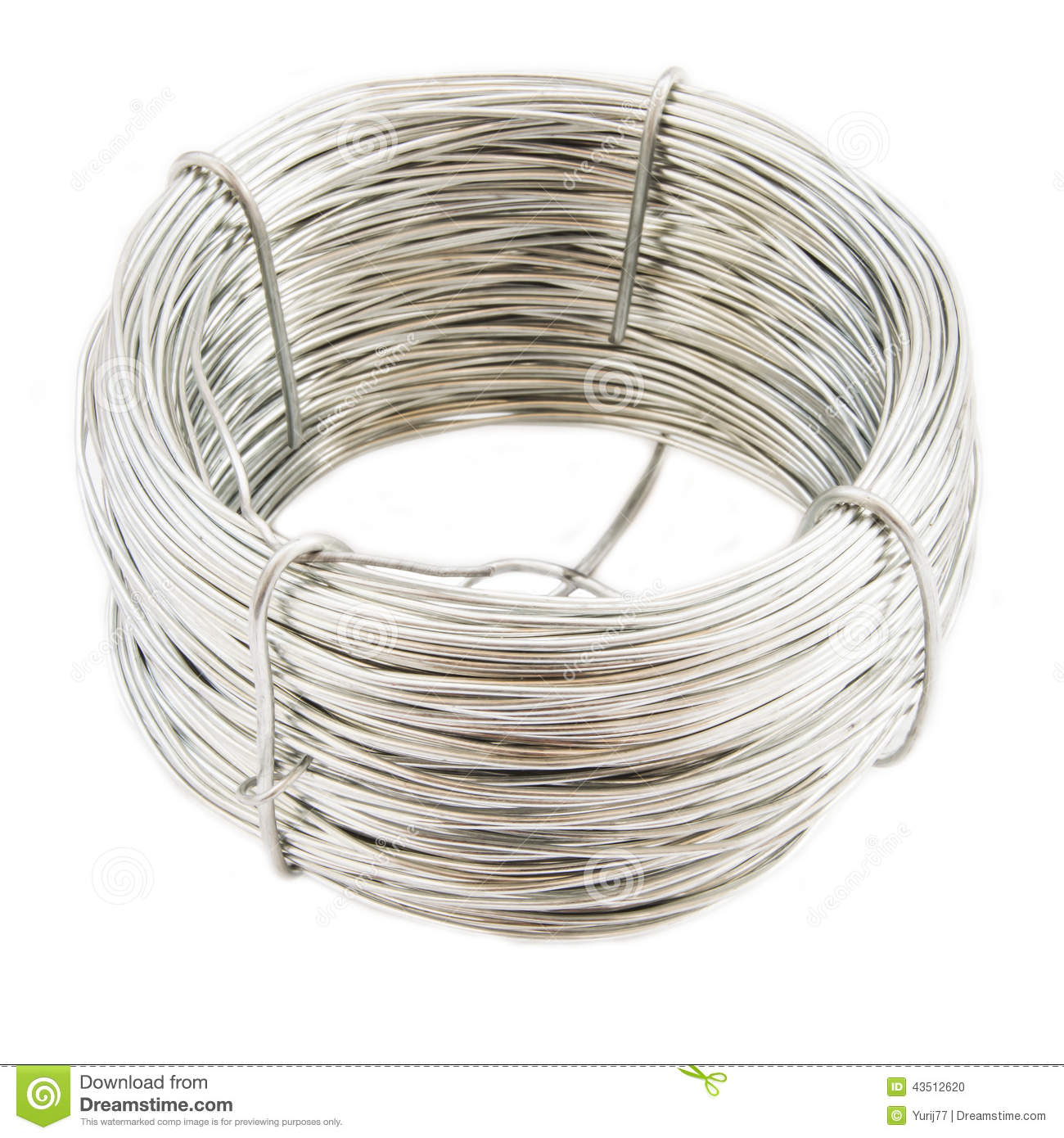 Coil of metal wire stock photo. Image of metal, circle - 43512620