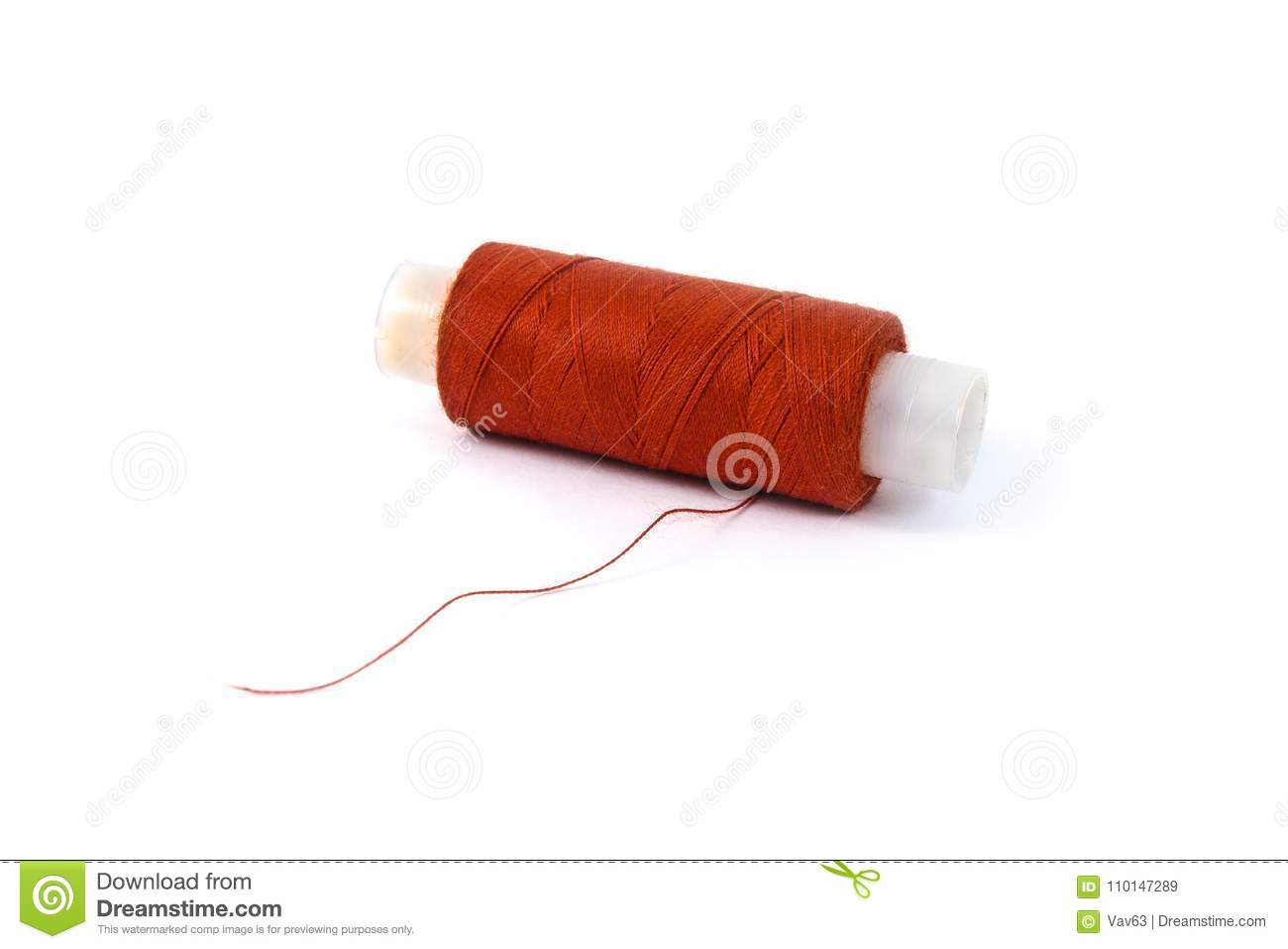 Coil with red thread