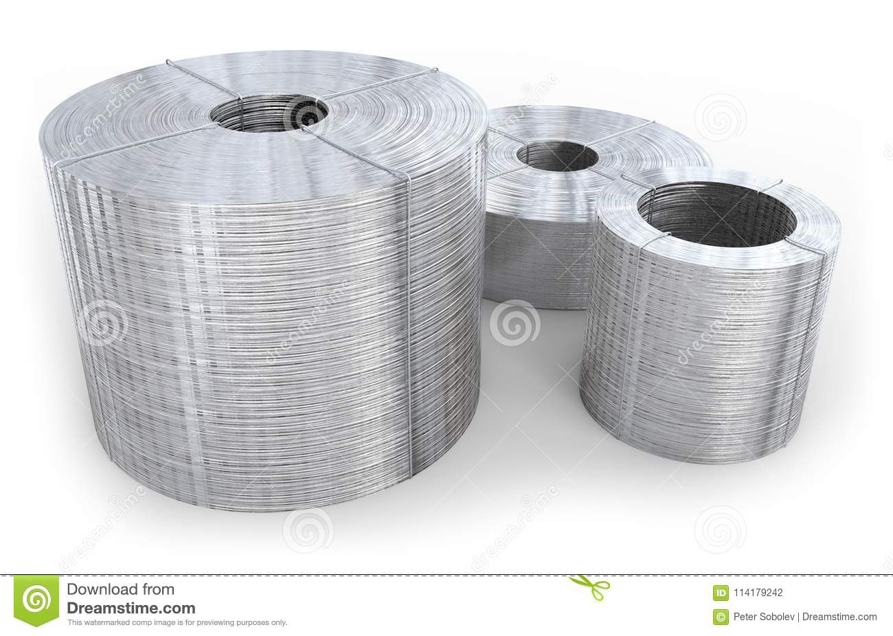 Coil of wire stock illustration. Illustration of iron - 114179242