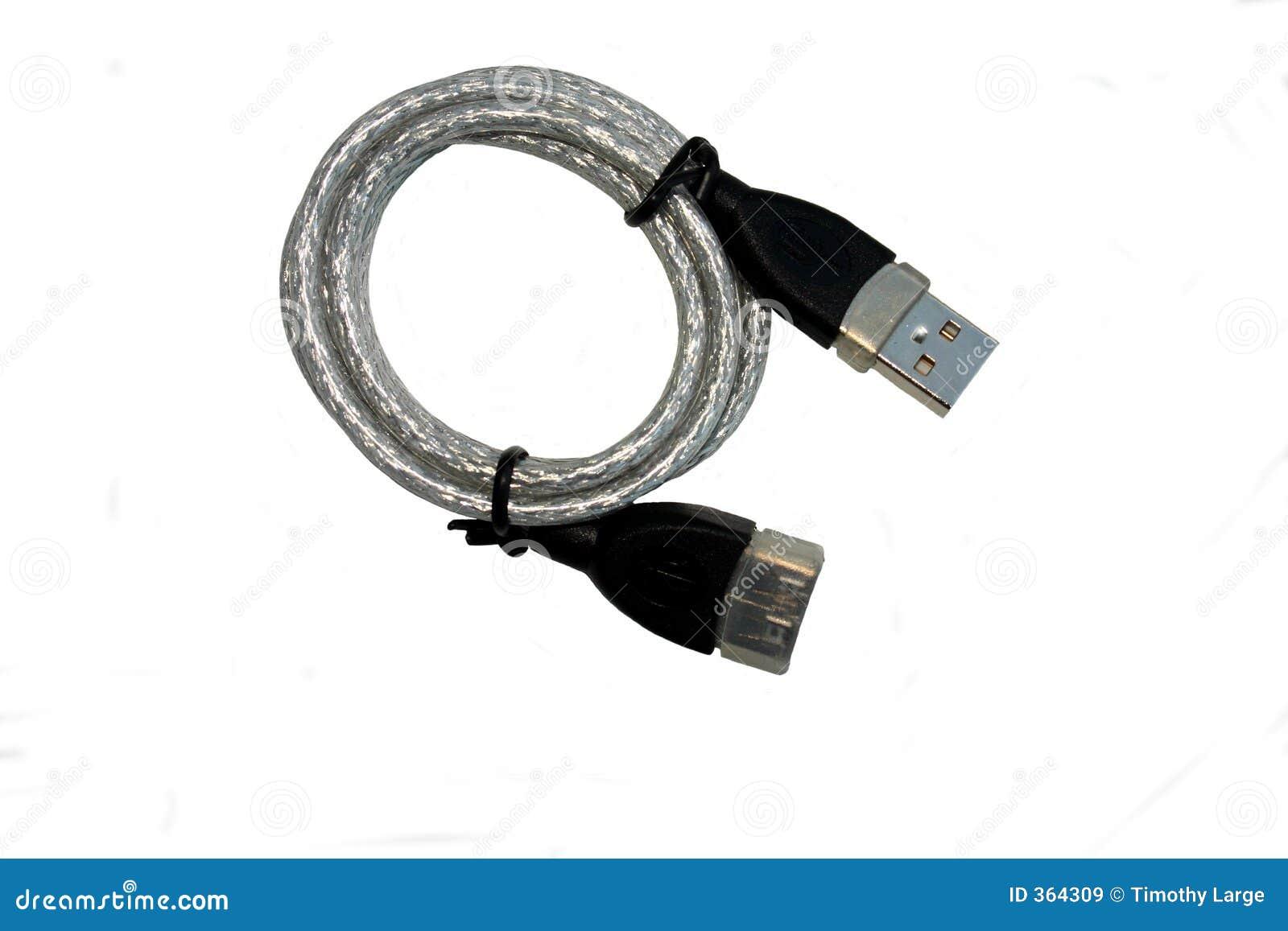 Coiled usb för kabel