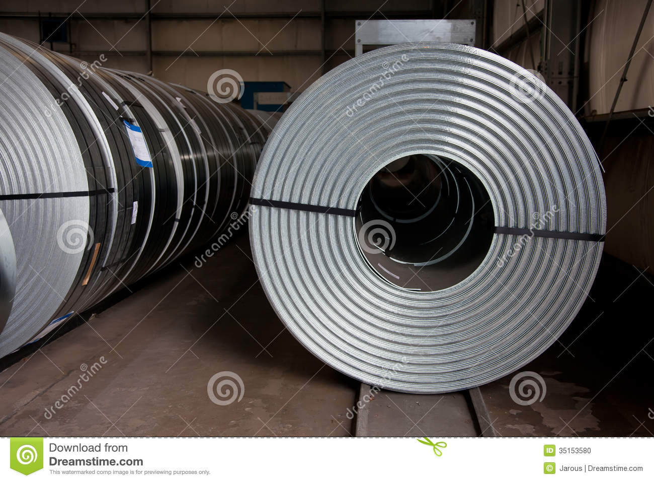 Coils At Store Stock Photo Image 35153580