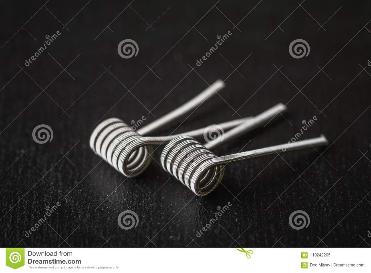 Coils for vape or e-cig dripping atomizers, accessories for vaping
