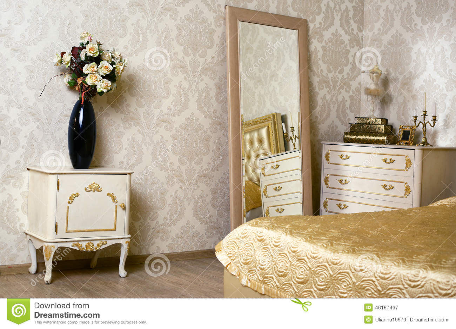 coin élégant confortable de vintage de la chambre à coucher ene