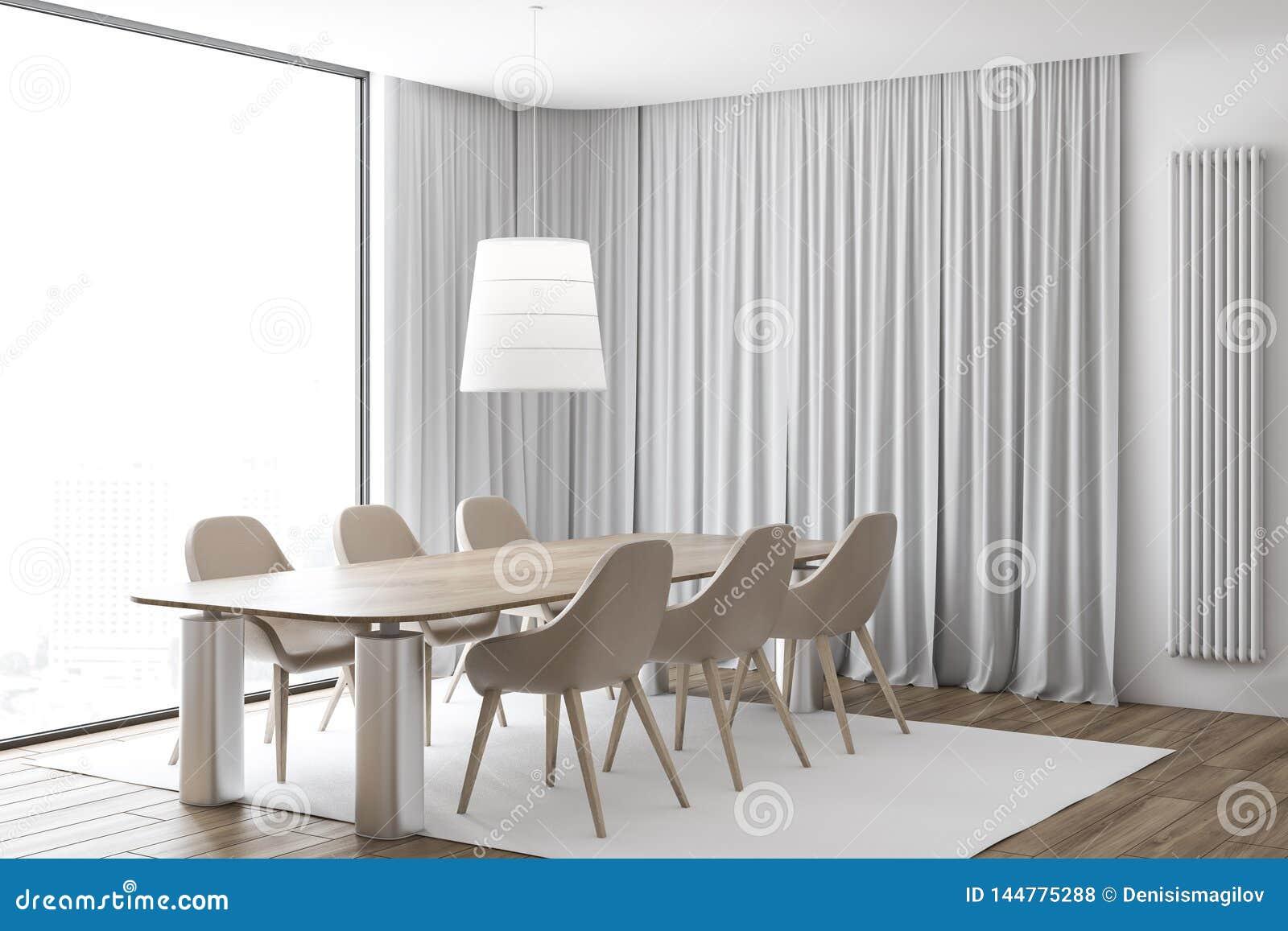 Rideau Pour Salle A Manger Moderne coin beige de salle ? manger de chaises photo stock - image