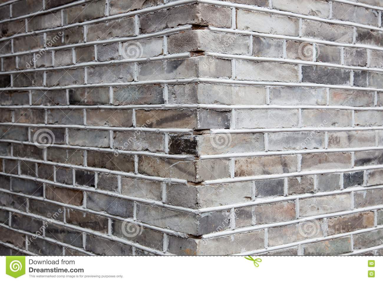 Coin De Mur De Briques Gris Photo Stock Image Du D Suet