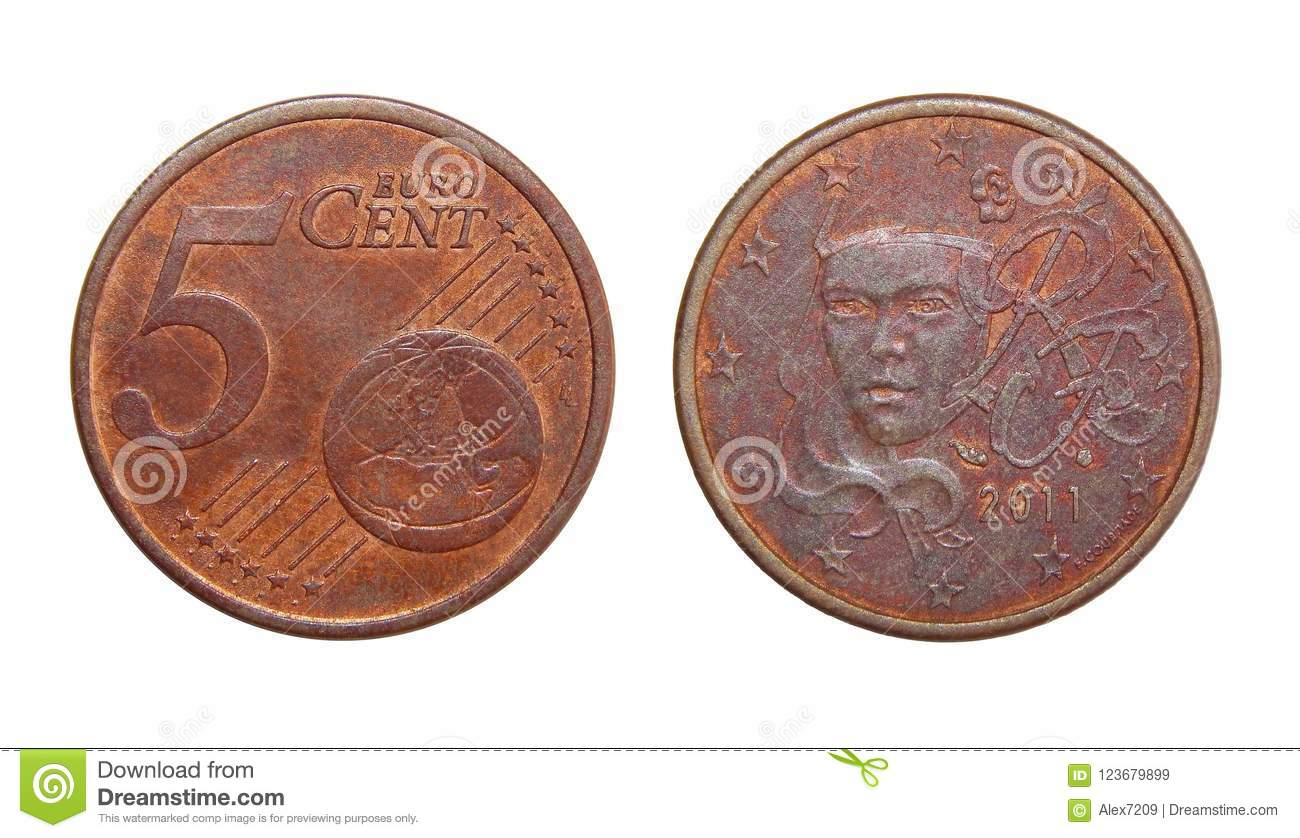 Coin 5 euro cents France