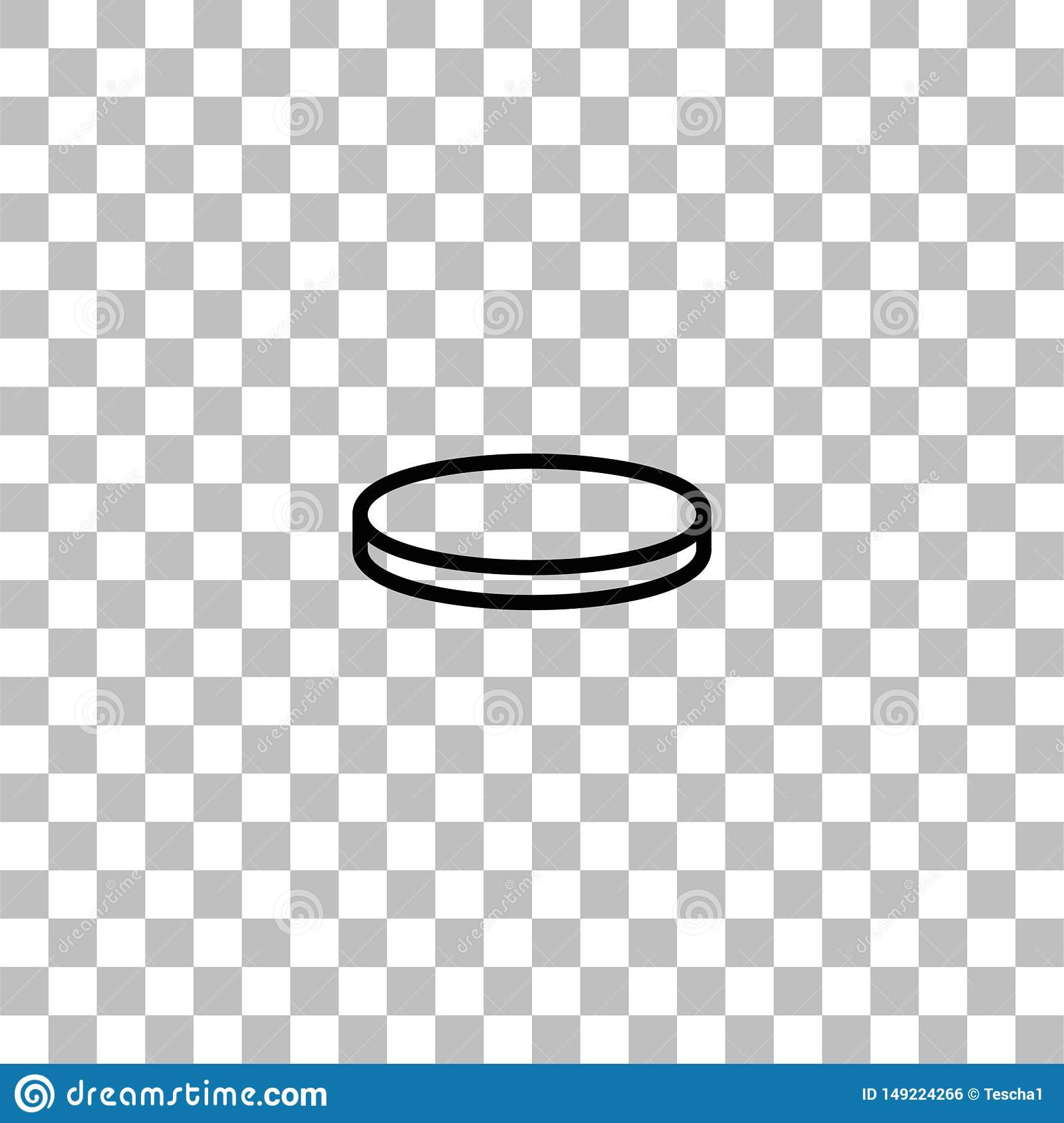 Coin icon flat