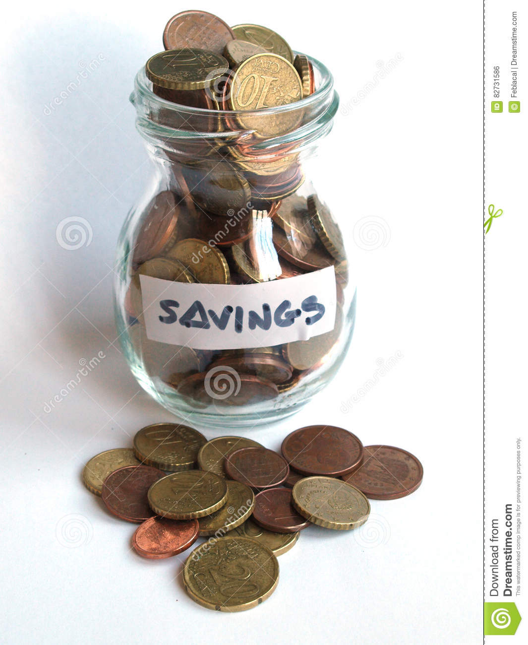 Coin Jar Stock Photo Image Of Penny Pouring Finance 82731586
