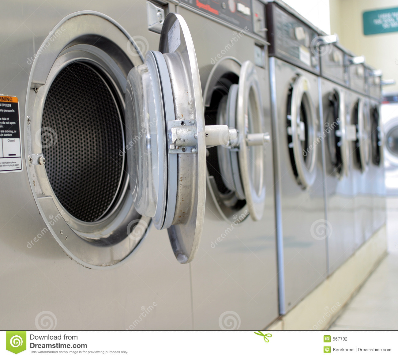 Coin Laundry Stock Photo Image Of Washing Machine Water