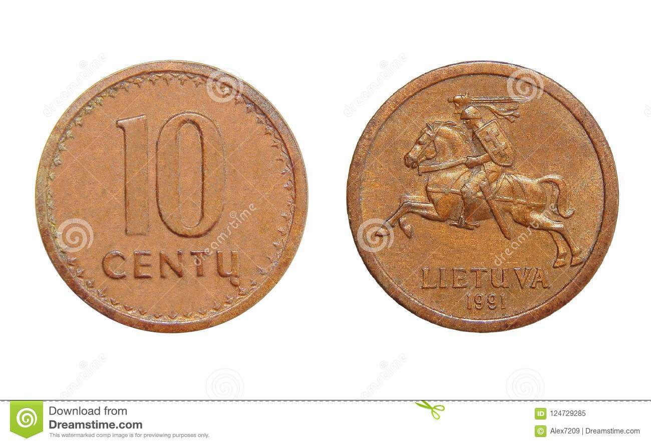 Coin Lithuania 10 cents