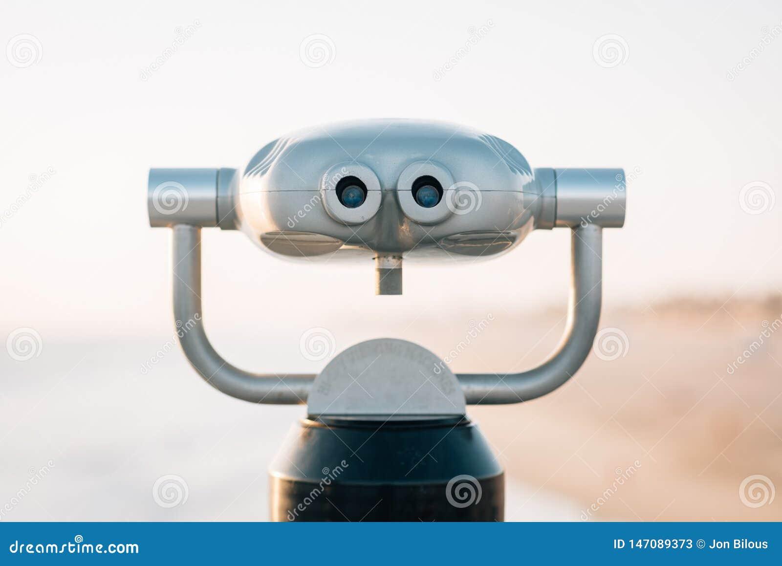 Binoculars At Huntington Beach Pier Stock Image - Image of