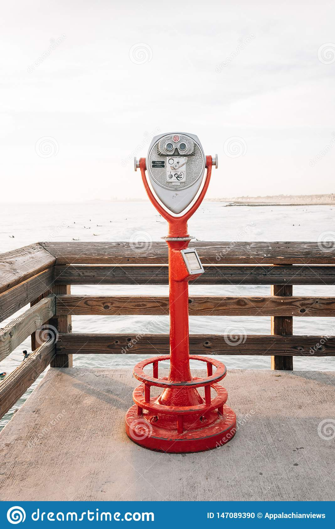 Binoculars On Beach Pier High-Res Stock Photo - Getty Images