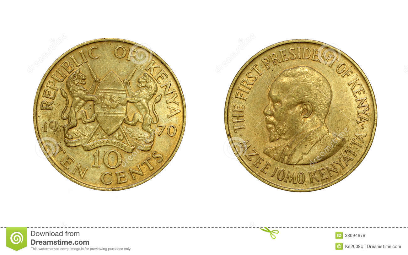 Coin Of Republic Of Kenya With Image Of First President