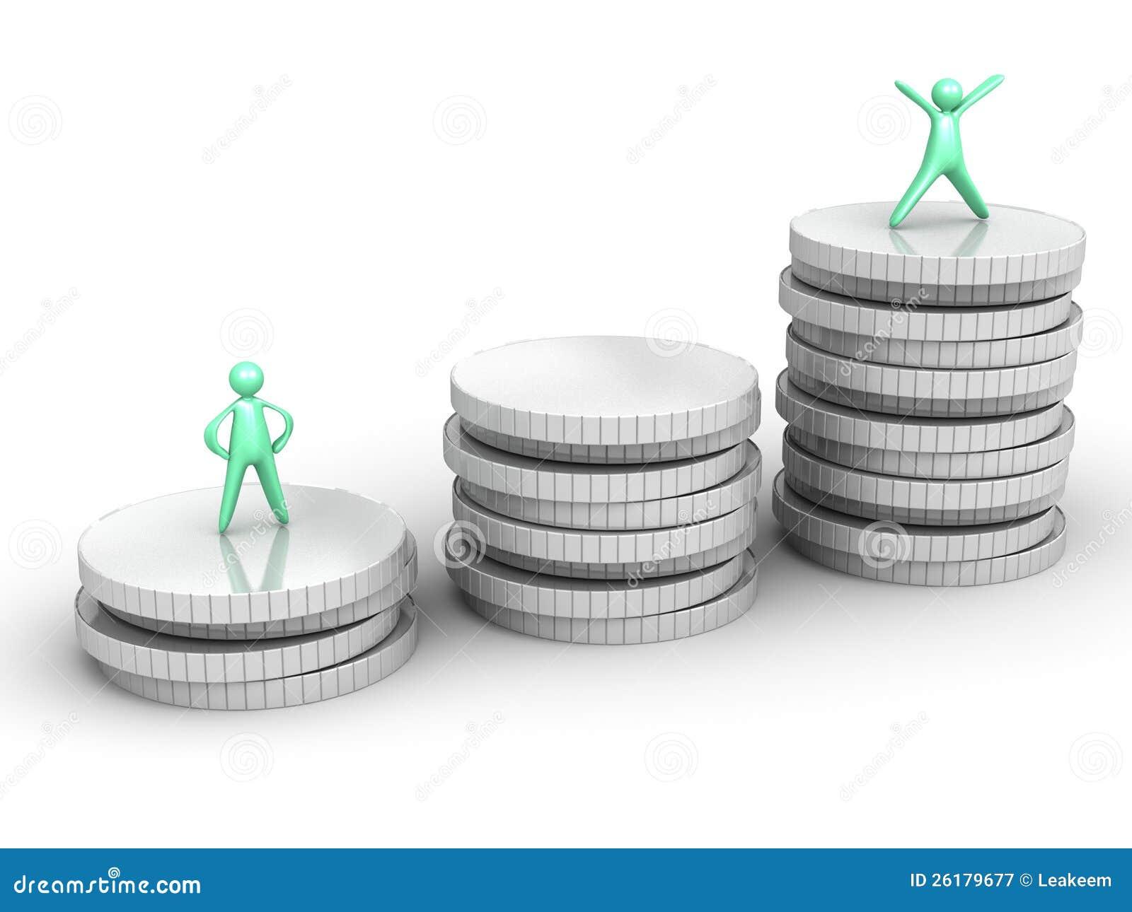 Coin Stack cartoon men