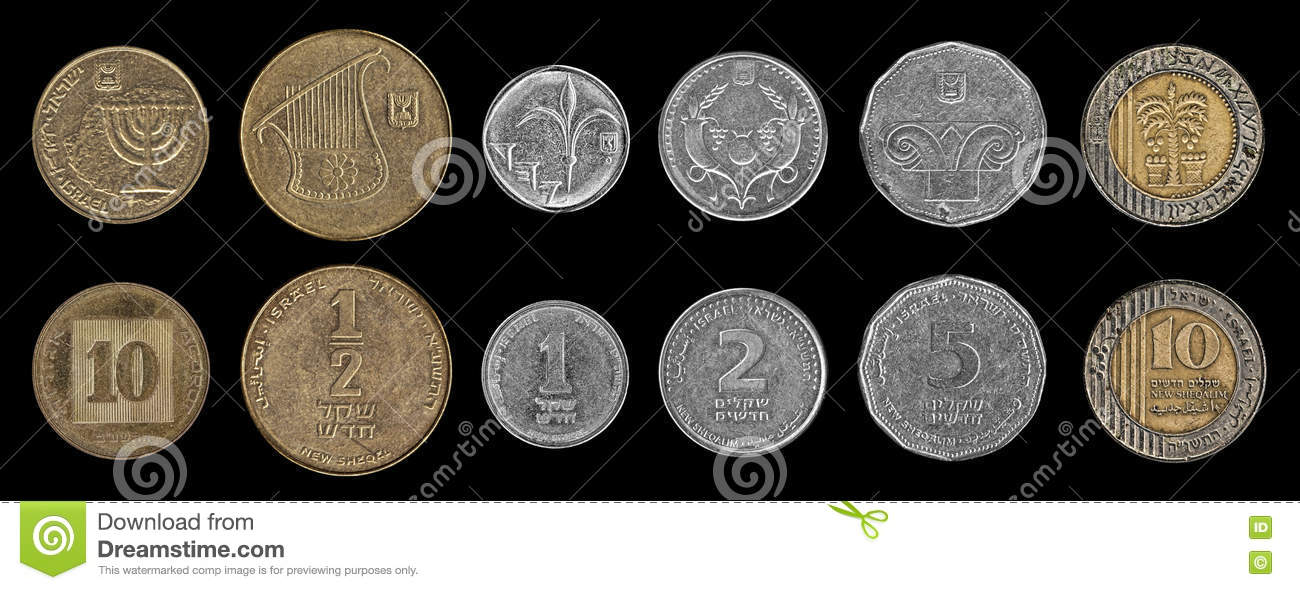 Coins on the black stock photo  Image of monetary, finance