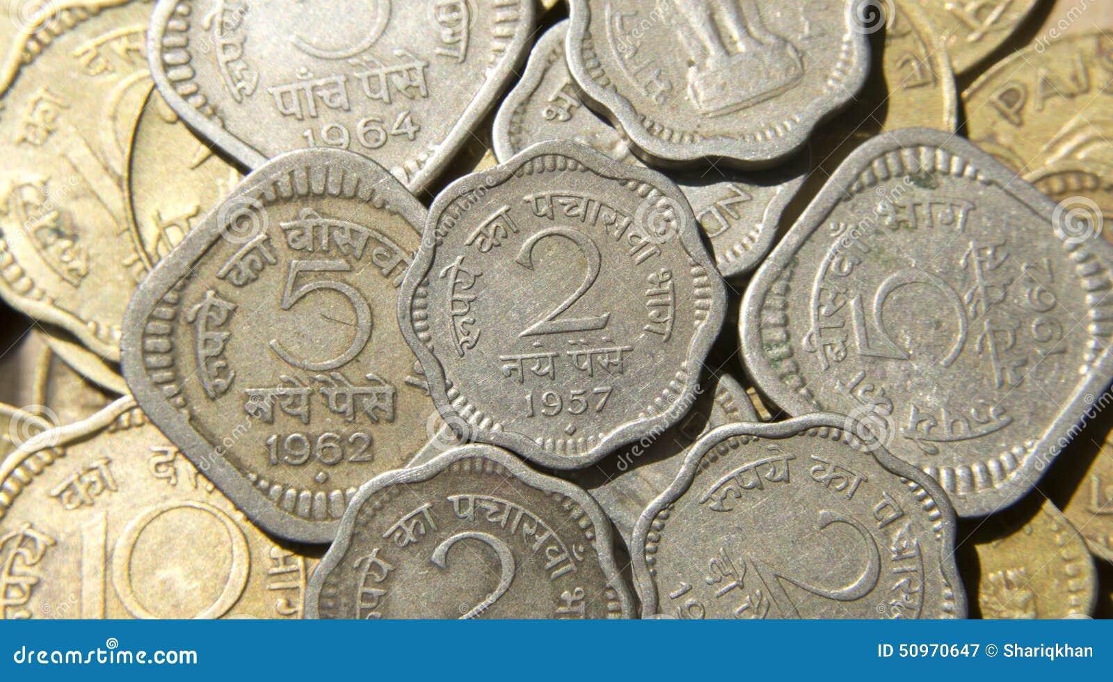 Coins den gammala indier