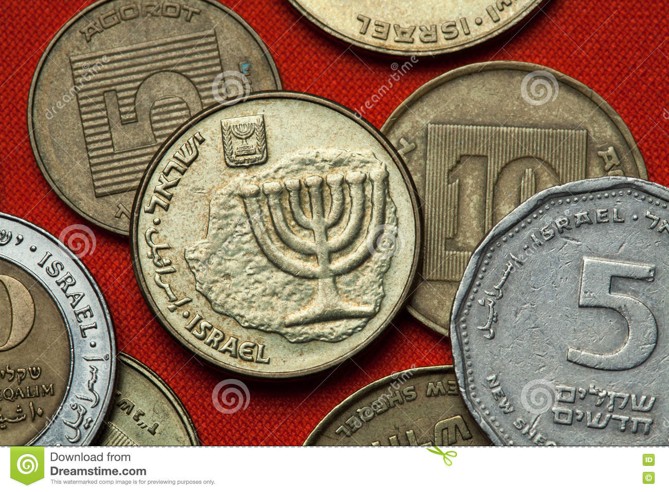 Coins of Israel. Menorah