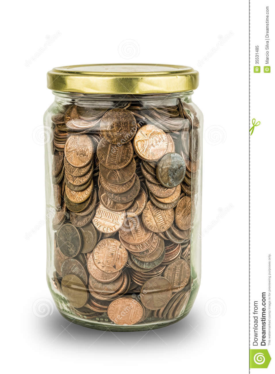 coins in a jar royalty free stock photo image 35531485