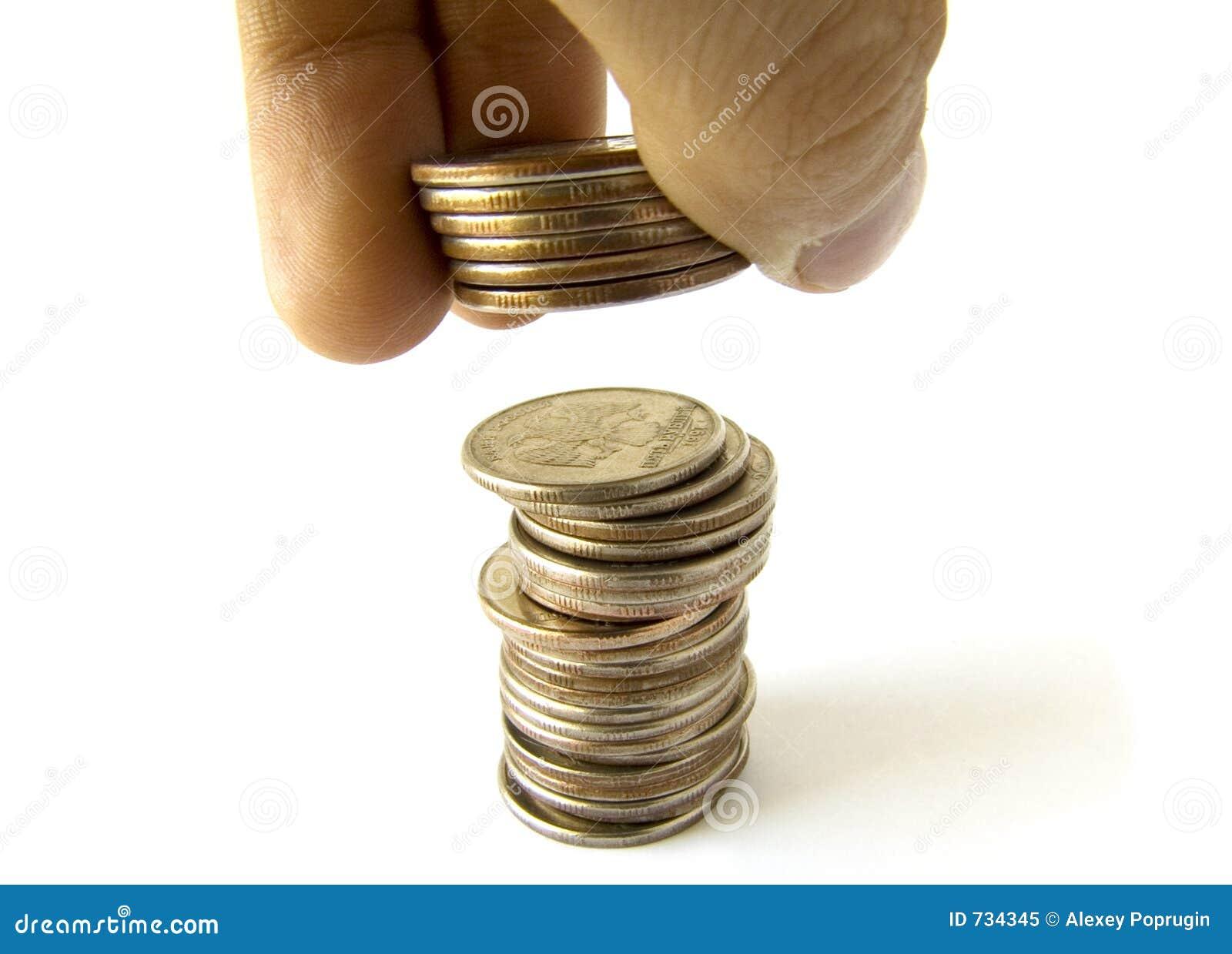 Coins kolonnfingrar