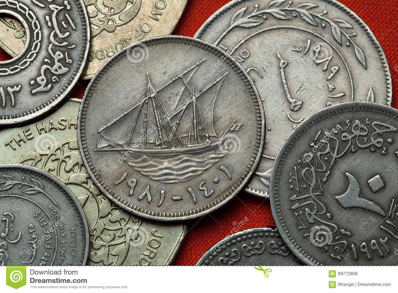 Kuwait 100 Fils Coin Stock Photo Image Of Coin Kuwait 16274800