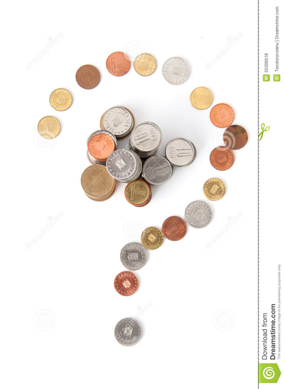 Coins questions mark