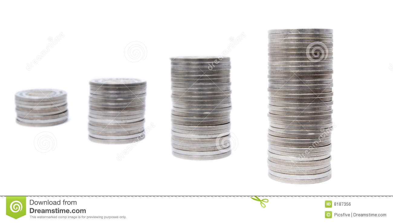 Download Coins row 1 stock photo. Image of cutout, currencies, company - 8187356