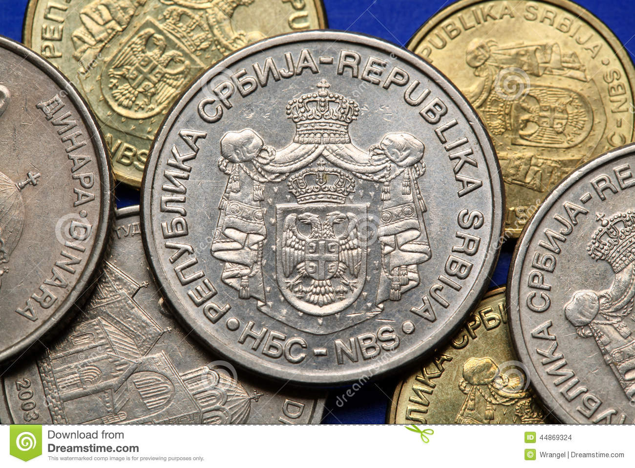 Coins Of Serbia Stock Photo Image Of Serbian Symbol 44869324
