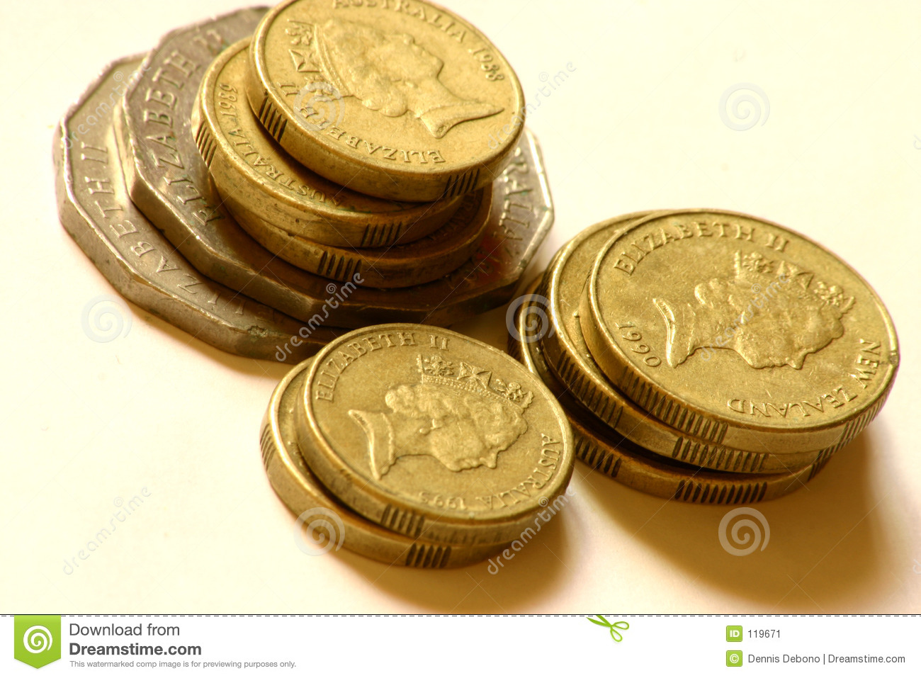 Download Coins stacked stock image. Image of quarters, penny, finance - 119671