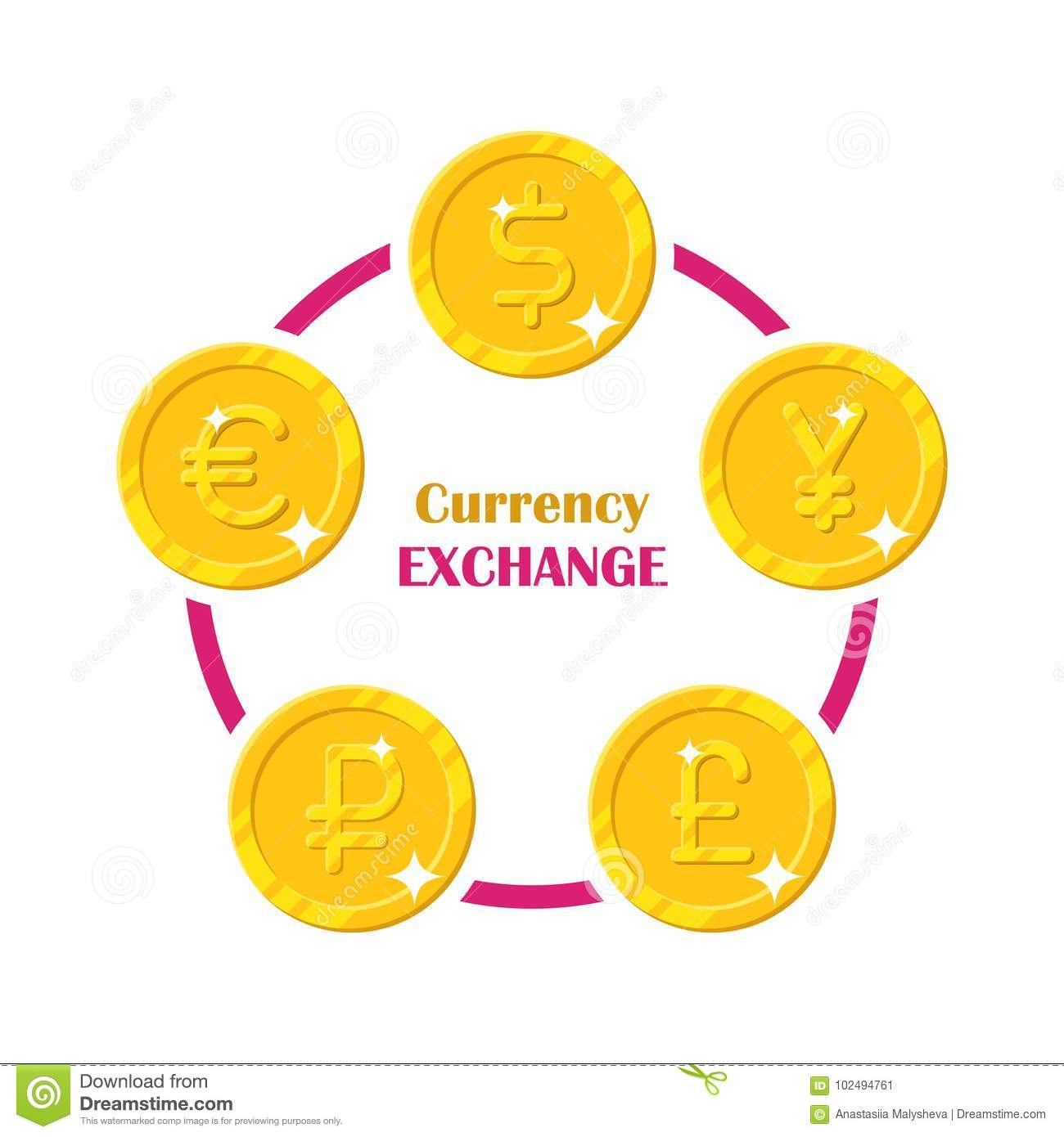 Coins World Currency Exchange Stock Vector Illustration Of Global