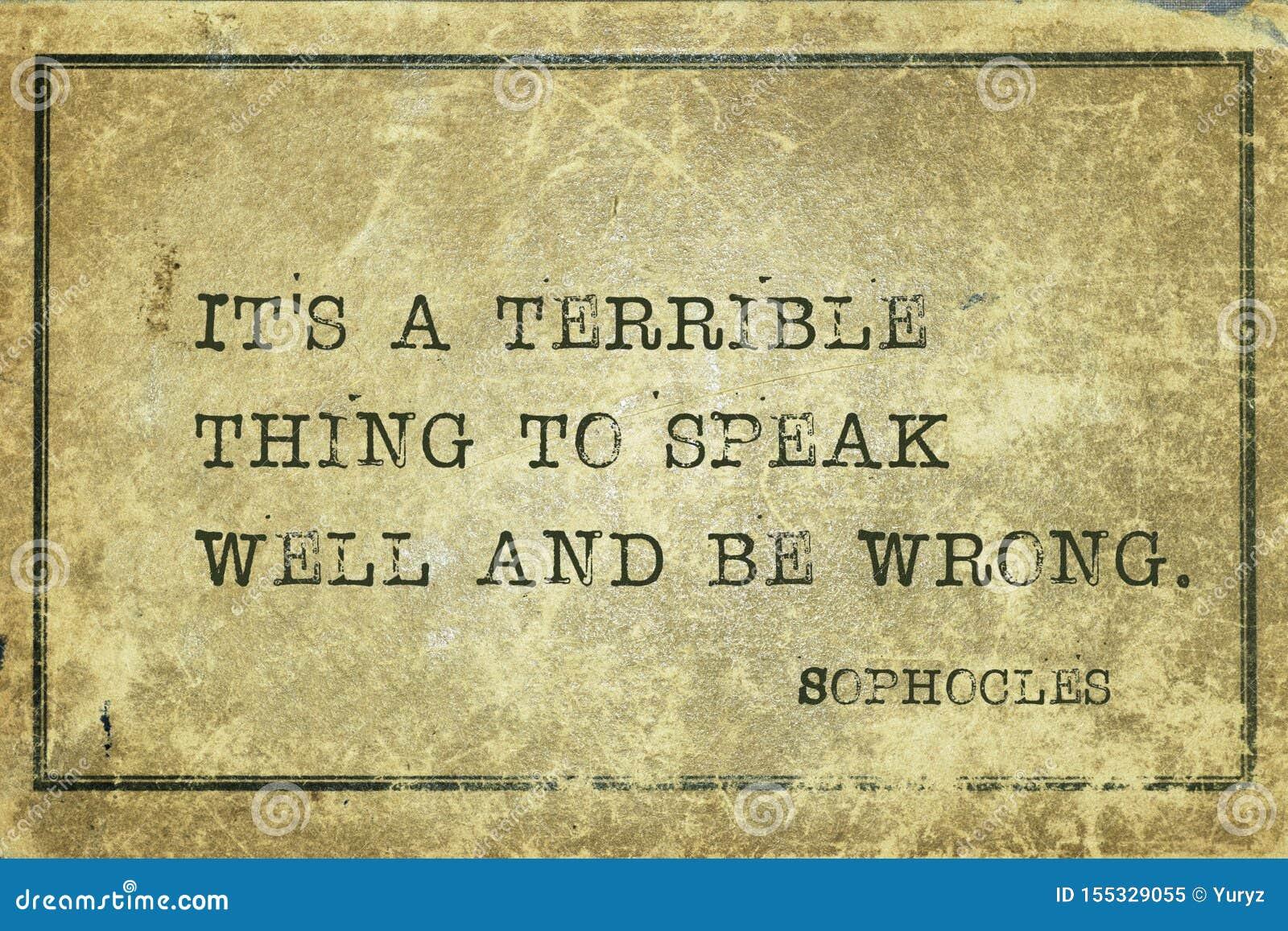 Coisa terrível Sophocles
