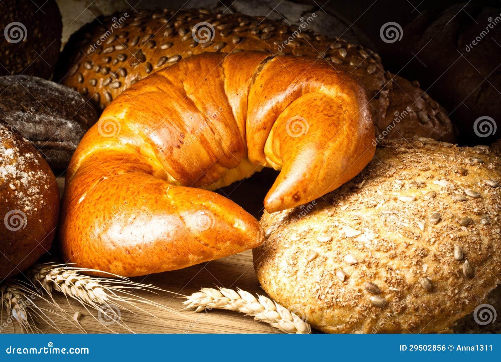 Coissant, brood en broodjes