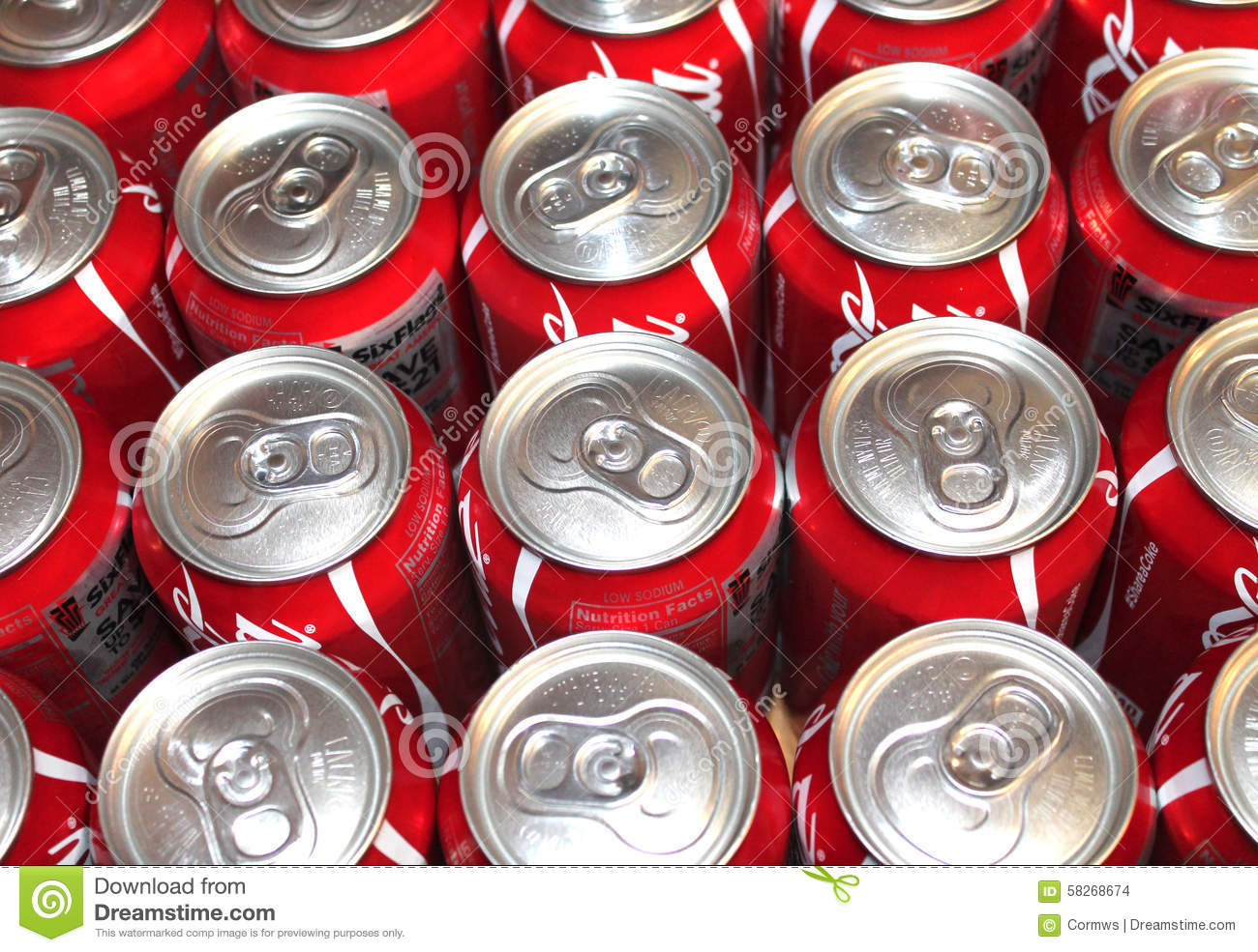 Coke Cans With Pop Tops Editorial Stock Image Image